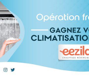 slide annonce du jeu Gagne ta clim 2021 eezila et activ radio